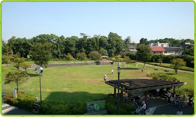水前寺成趣園に隣接する広場