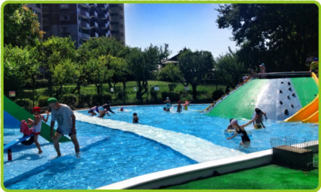 夏のちびっこプール
