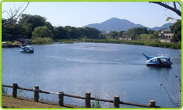 上江津湖と金峰山