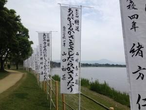 汀女顕彰俳句大会の表彰句展示
